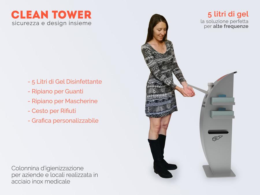 Colonnina Igienizzante Prevenzione Covid-19 di Design